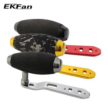 EKFan New Design 8*5MM Hole T-shaped Double Holes Fishing Handle EVA Knob + Metal Handle For Baitcasting Fishing Reel