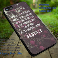 Bastille Lyric Quote Floral Retro iPhone 6s 6 6s+ 5c 5s Cases Samsung Galaxy s5 s6 Edge+ NOTE 5 4 3 #music #bst dt