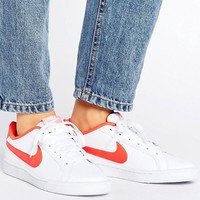 Nike Court Royale Trainers In White And Red at asos.com