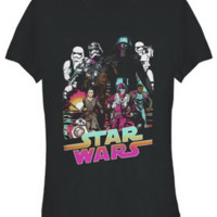Star Wars The Force Awakens TFA Comic Style Juniors T-Shirt