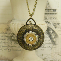 Bullet Necklace, Pocketwatch Necklace, Pocketwatch, Outlaw Glam