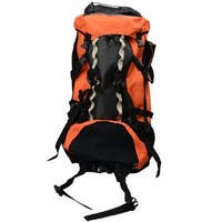 YR.Seasons Waterproof 90L Backpack for Outdoor Traveling Camping Mountaineering (Orange)