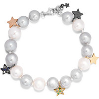 Carolina Bucci - Superstellar 18-karat white gold, pearl and sapphire bracelet