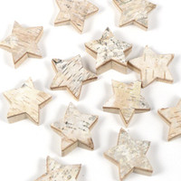 Birch Wood Star Christmas Holiday Decor Craft Supplies Rustic Wedding