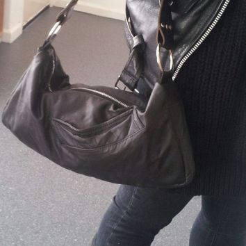 black leather bag, recycled leather bag, upcycled leather, leather clutch, small leather bag, leather handbag, leather purse