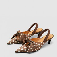 POLKA DOT SLINGBACK SHOES DETAILS