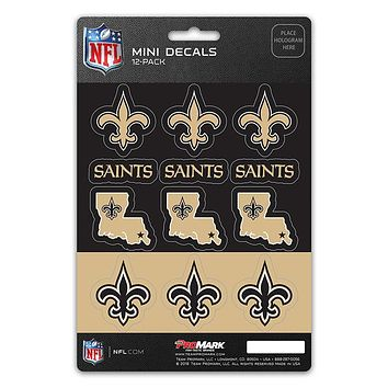 New Orleans Saints Decal Set Mini 12 Pack