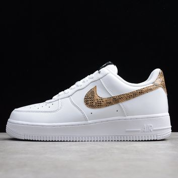 Nike Air Force 1 Low Retro Ivory Snake Sneakers - Best Online Sale