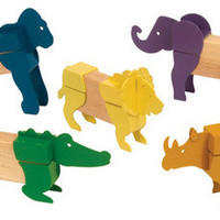 Guidecraft Block Mates Safari Animals - G7603