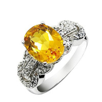 2.65ct Citrine ring silver ring