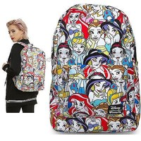 Licensed cool NEW Disney Classic Princesses Backpack School Book Bag w/Laptop Pocket Loungefly