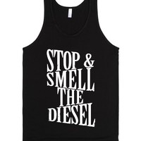 Stop And Smell The Diesel-Unisex Black Tank