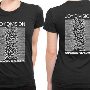 DCCKG72 Joy Division Unknown Pleasure 2 Sided Womens T Shirt