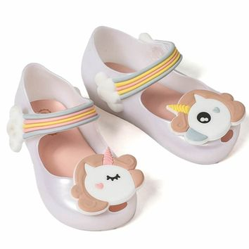 Cute Unicorn Shoes Girls Jelly Shoes Jelly Sandals For Toddlers