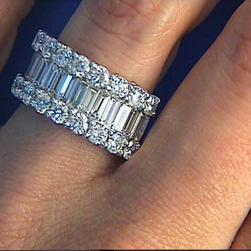 wedding new on diamond ring beautiful best band ahnung eternity carat rings of anniversary bands pinterest images