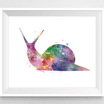 Snail, Art Print, Watercolor, Snail Painting, Animal Watercolor, Kids Room Decor, Nursery, Wall Art, Home decor, Gift, Digital Download