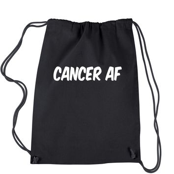 Cancer AF As F-ck Zodiac Drawstring Backpack