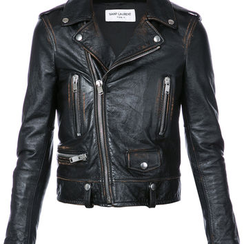 Saint Laurent Cropped Biker Jacket - Farfetch