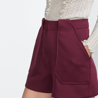 High-Waisted A-Ling Pockets Shorts