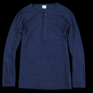 UNIONMADE - Orslow - Henley Neck Cut and Sewn in Indigo