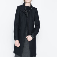 COAT WITH BUCKLE COLLAR AND ZIP - Coats - Woman | ZARA United States