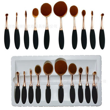 Professional Portable 10pcs Makeup Brushes Set Cosmetic Tool Beauty Cosmetic Foundation Cream _ 3483