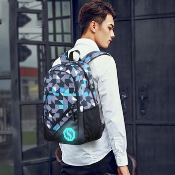 Luminous Mochila Backpack With/Without Charging Bank