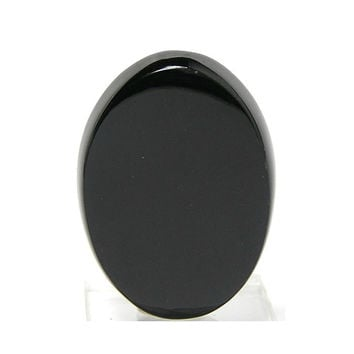 Black Natural Nephrite Jade Oval Cabochon Mirror Gloss