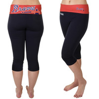 Atlanta Braves Women's Sublime Capri Pants – Navy Blue