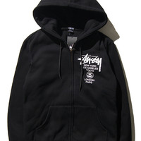 Stussy Winter Men's Fashion Hats Zippers Casual Jacket [9391649287]