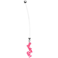 Solid Pink Lucite Baby Girl Pregnant Belly Ring | Body Candy Body Jewelry