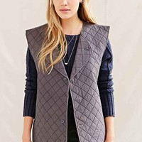 Urban Renewal Vintage Quilted Vest- Grey