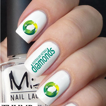 Australia Diamonds Netball nail decal