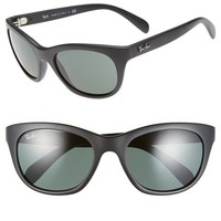 Women's Ray-Ban 'Highstreet' 56mm Sunglasses - Matte Black