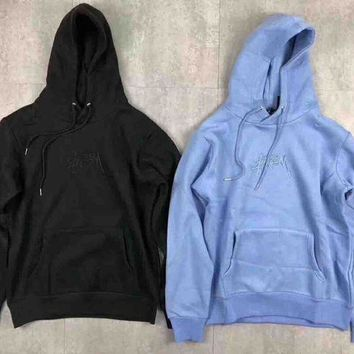 DCCKB62 Stussy New Stock App Hood Embroider Fashion Sweater Pullover Sweatshirt G-MG-FSSH