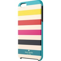 kate spade new york - Candy Stripe Hybrid Hard Shell Case for Apple® iPhone® 6 Plus - Turquoise/Yellow/Orange/Pink/Navy