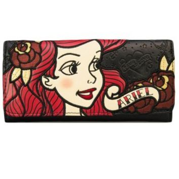 Ariel Tattoo Flash Black Wallet
