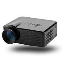 Mini LED Projector - 3.5 Inch LCD, 80 Lumen, 1080p, 500:1 Contrast, 30 To 100 Inch Image, HDMI, USB, AV, TV, VGA (Black)