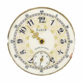 Vintage Elgin National Watch Co. Pocket Watch Mechanism Movement 30377238 34mm