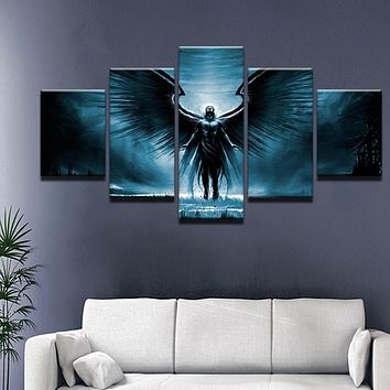Dark Angel Black Wings HD Canvas Painting For Living Room Home Wall Modern Art Decor Posters Prints