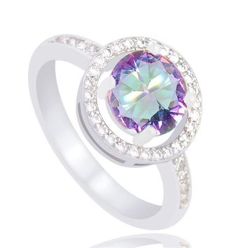 Silver Color Exquisite Wedding Promise Ring For Women