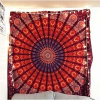 Medallion Feather Hippie Wall Hanging Dorm Tapestry Bohemian Decor