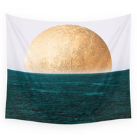 Society6 Gold Sunset Wall Tapestry