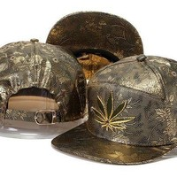ICIKUN7 Marijuana Snapbacks Cap Snapback Hat - Ready Stock