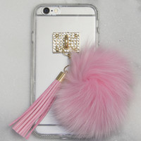 Pink Fuzz Ball iPhone Case