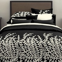 City Scene, Branches Collection Black , Comforter Set, Full/Queen