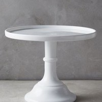Milk Glass Cake Stand by Anthropologie