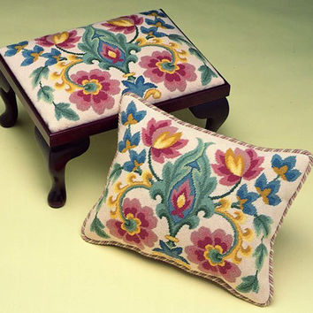 Acanthus Tapestry Needlepoint Cushion or Footstool Kit