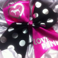 """3"""" Cheer Bow- Love Pink!"""