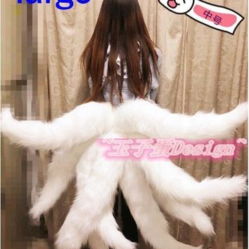 Lol Cosplay Costumes Sexy Fox LOL Ahri Tail Dynasty Ahri Nine-Tailed Adult Women Anime Halloween Carnival Cosplay Costumes